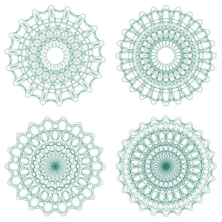 Set of guilloche rosettes Stock Vector - 16145738
