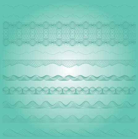 Ornamental guilloche seamless pattern Vector