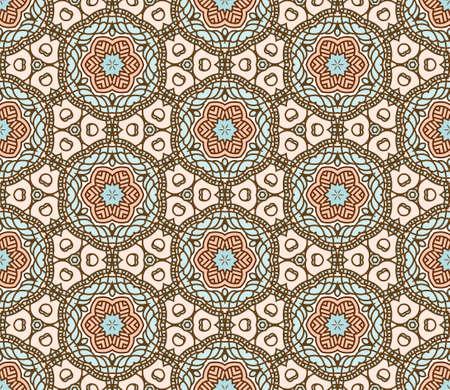 keltische muster: Nahtlose bunte Retro-Muster Hintergrund Illustration