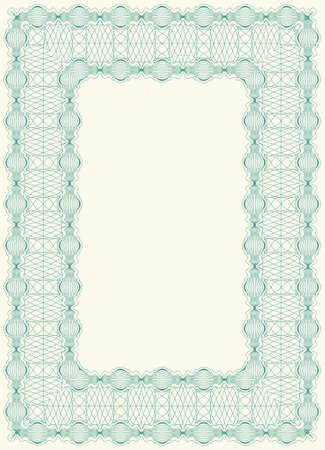 Guilloche frame Stock Vector - 16252070