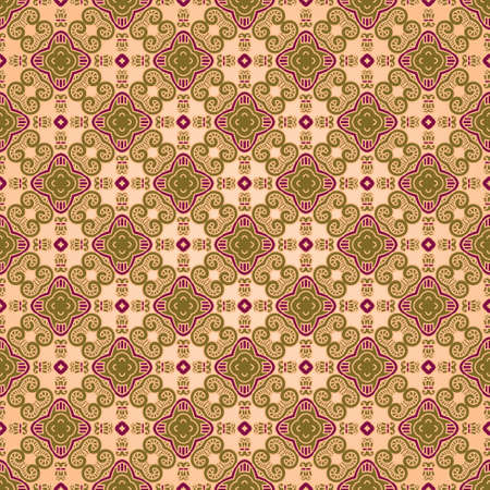 wallflower: Seamless colorful retro pattern background Illustration
