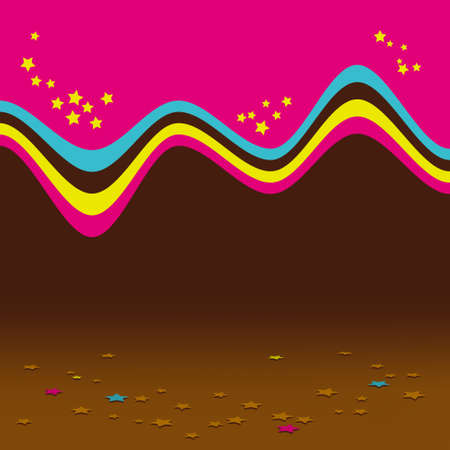 Abstract chocolate background Stock Vector - 16641531