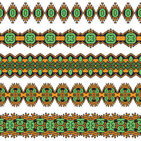 cultura maya: Seamless pattern Ornamental Vectores