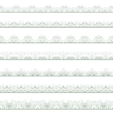 strap: Ornamental floral seamless pattern