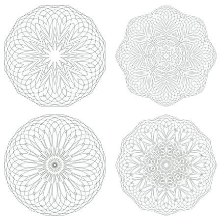 Set of guilloche rosettes Stock Vector - 17159238
