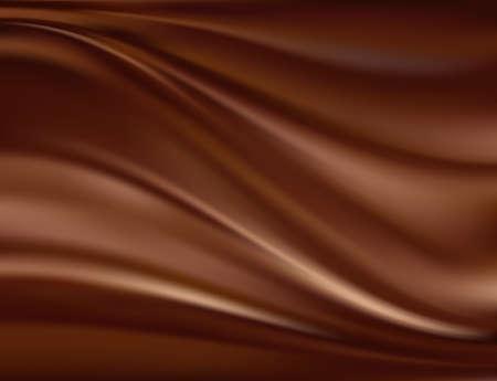 chocolate melt: Astratto sfondo di cioccolato Vettoriali