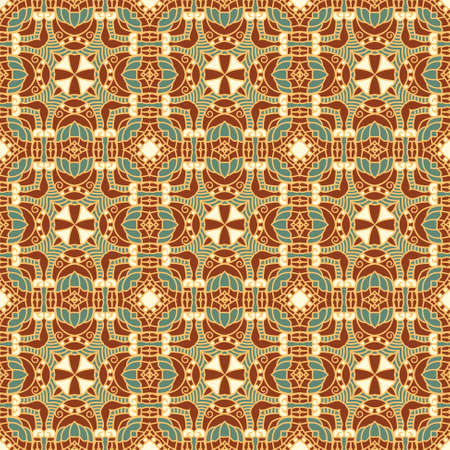 Seamless colorful retro pattern background Stock Vector - 17385199
