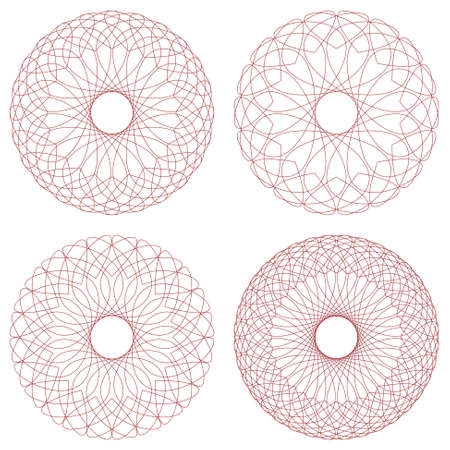 rosette: Set of vector guilloche rosettes