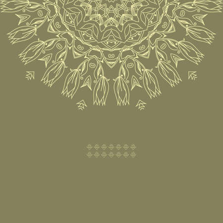 Ornamental round lace pattern Stock Vector - 17421833