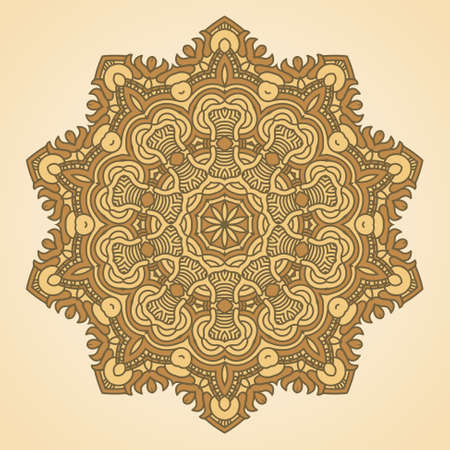 Vector round decorative design element Stock Vector - 17421841