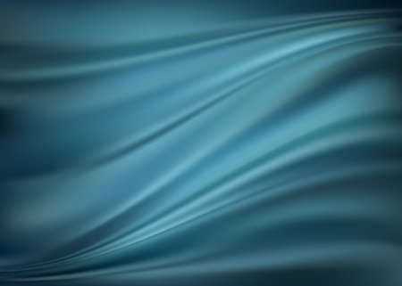 blue silk: Blue abstract satin curtain background Illustration
