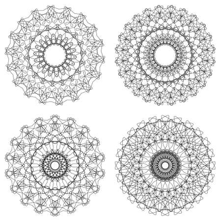 Set of vector guilloche rosettes Stock Vector - 17702222