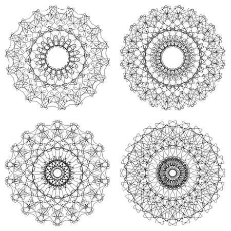 Set of vector guilloche rosettes Stock Vector - 17702222
