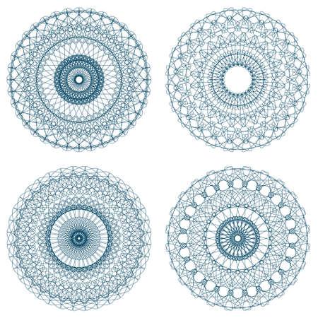 rosettes: Set of vector guilloche rosettes