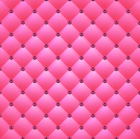 button tufted: Pink background from squares and buttons