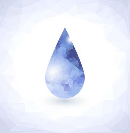 Diamond in Water drop Vector