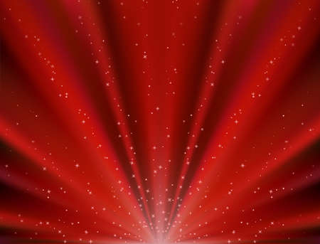 star burst christmas: Abstract vector red background