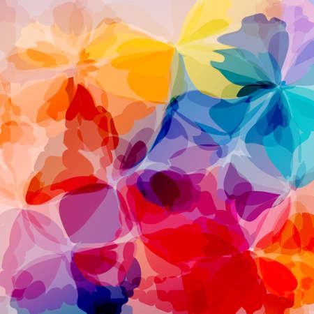 Pittura ad acquerello sfondo multicolore