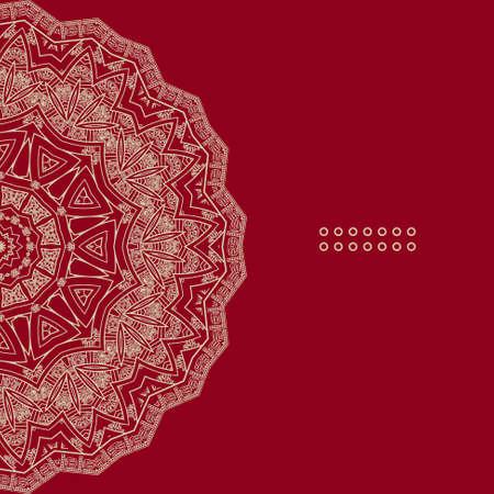 red indian: Vector round decorative design element