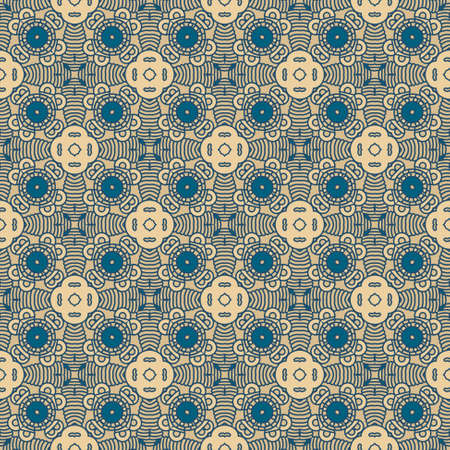 antique wallpaper: Seamless colorful retro pattern background Illustration
