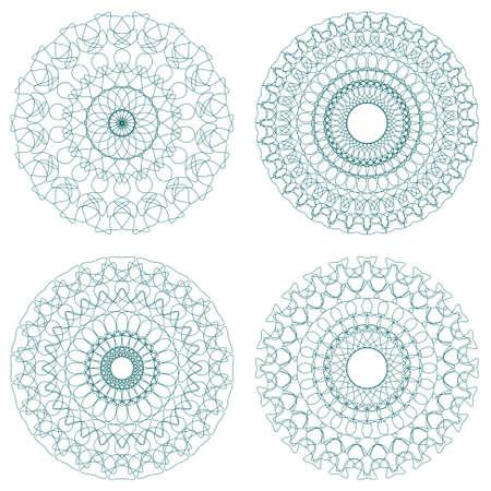 escarapelas: Conjunto de rosetones del guilloquis Vectores