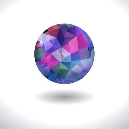 prismatic: Prismatic faceted sphere