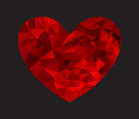 ruby red: Heart from triangles