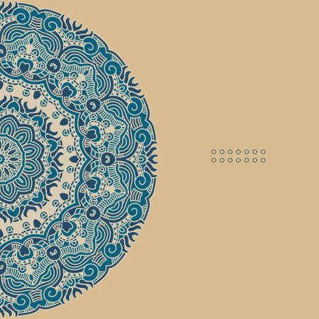 mexico background: Vector round decorative design element