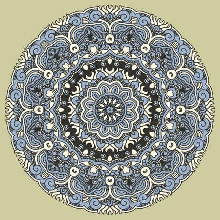 Vector round decorative design element Stock Vector - 18496093
