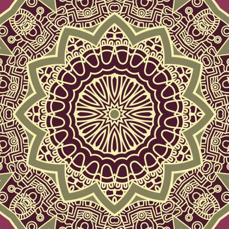 square image: Vector round decorative design element