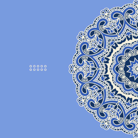Vector round decorative design element Vector