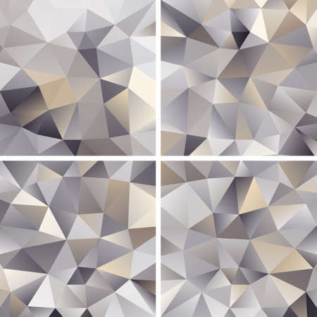 Set of Abstract Triangle Backgrounds Stock Vector - 18763115