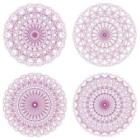 rosettes: Set of Guilloche Rosettes