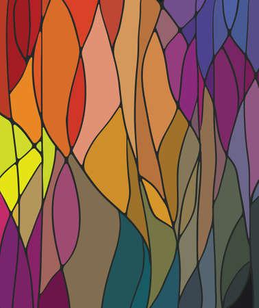 抽象的な: ステンド グラスの窓  イラスト・ベクター素材