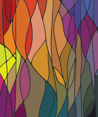 abstract backgrounds: Stained Glass Window Illustration