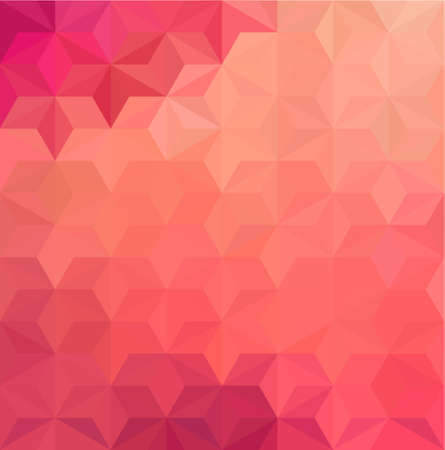 red background: Abstract Geometrical Background
