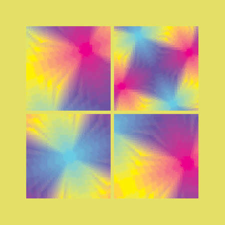 hologram: Collection of Abstract Geometrical Backgrounds Illustration
