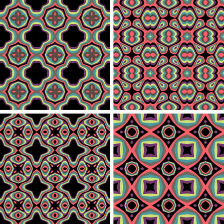Set of Seamless Colorful Retro Pattern Backgrounds Stock Vector - 20286766