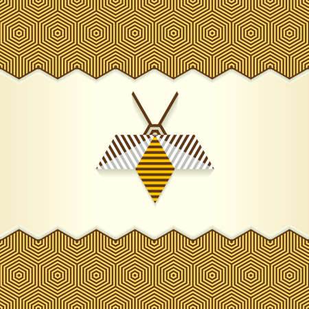 bee stinger: Abstract Geometrical Bee