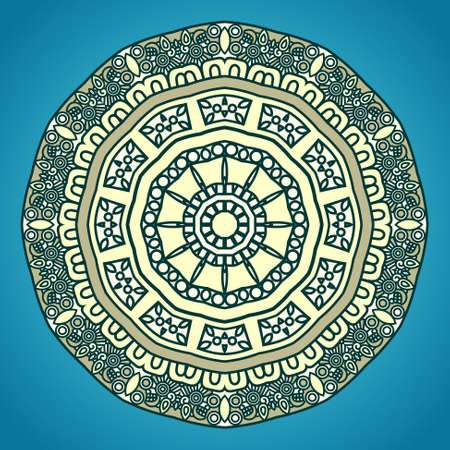 Round Decorative Design Element Vector