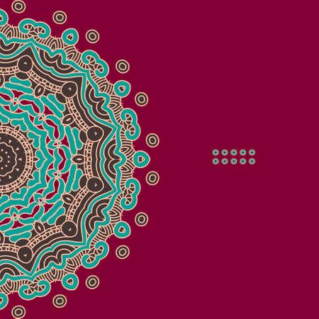 Kleurrijke Ronde Sier Patroon, wenskaart Template Design