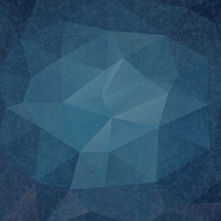 Abstract Triangle Geometrical Blue Old Style Background.