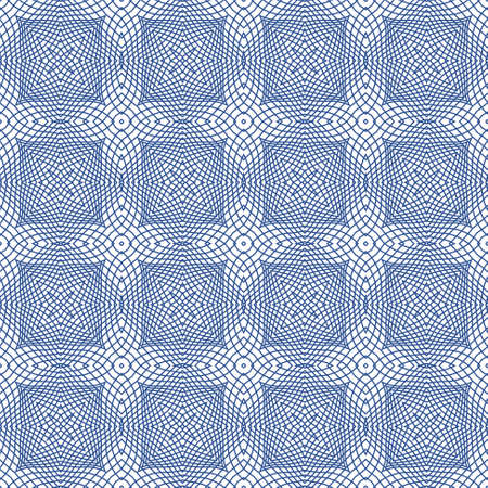 tangier: Blue Seamless Illustration of Tangier Grid, Abstract Guillotine Background