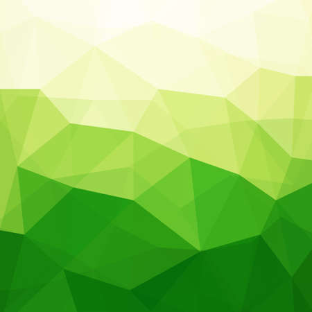 緑色の三角形を抽象背景、図では、透明なオブジェクトが含まれています