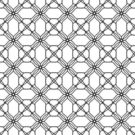 wallflower: Seamless Black White Pattern Background, Vector Illustration