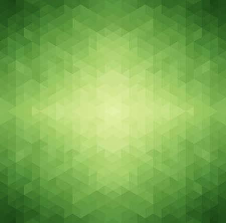 緑色の三角形の背景、ベクター グラフィック抽象的な