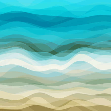 Abstract Design Creativity Background of Blue and Beige Waves, Vector Illustration EPS10