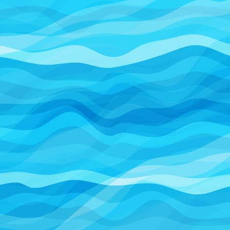 Resumen Diseño Creatividad Antecedentes de Blue Waves, ilustración vectorial EPS10