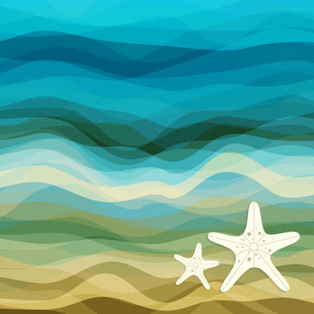 vector waves: Abstract Design Creativity Background of Blue and Beige Waves, Vector Illustration EPS10