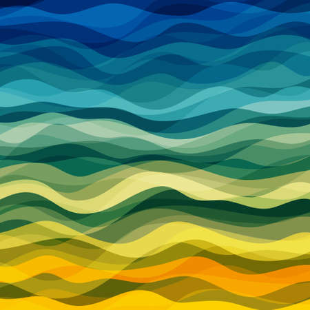 abstract waves: Abstract Design Creativity Background of Yellow and Green Waves, Vector Illustration EPS10
